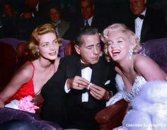 Marilyn Monroe, Lauren Bacall and Humphrey Bogart