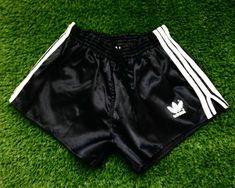 Adidas Retro, Vintage Adidas, Plastic Pants, Adidas Shorts, Running Shorts, Black Adidas, Vintage Men, Underwear, Basketball