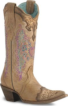 Corral Lace & Heart Embroidery Boot