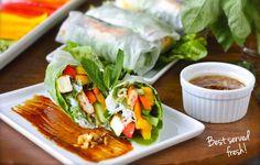 Fresh and delish vietnamese spring rolls