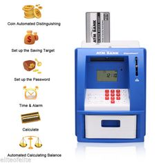 #Digital atm bank cash card #machine saving #money box coin note counter piggy ba,  View more on the LINK: http://www.zeppy.io/product/gb/2/181969655729/