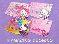 Hello #kitty personalised birthday #party #invitations,  View more on the LINK: 	http://www.zeppy.io/product/gb/2/181047418348/