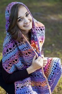 Big Wheel Colorful Hugs Prayer Shawl By Susie Bonell - FREE Crochet Pattern - See http://www.cascadeyarns.com/patternsFree/B195_BigWheelColorfulHugsPrayerShawl.pdf For PDF Pattern - (cascadeyarns) thanks so xox