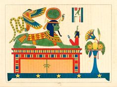 illustrations from 1824 depicting Ra, Ancient Egypt's God of Sun