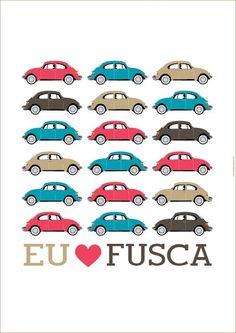 J'aime la Coccinelle   Eu amo Fusca #Fusca #Beetle