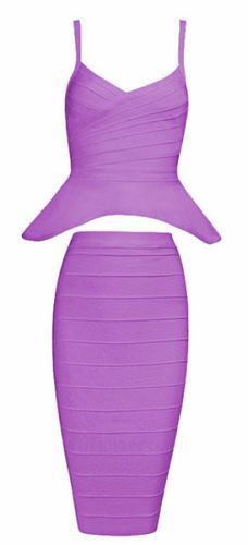 Alley Purple Two-Piece Bandage Dress