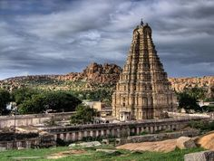 Virupaksha Temple, Hampi, Karnataka, India (Know and Explore amazing Destinations with Know Your Destination) * Virupaksha Temple is located in. Best Places To Travel, Places To See, India Architecture, Ancient Architecture, Hindu Temple, Temple India, Karnataka, Hampi India, Beautiful Places In The World