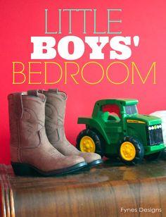 Boys Bedroom-lots of great decor ideas