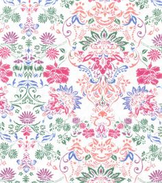 Buttercream™ Olivia Collection Cotton Fabric-Floral Damask