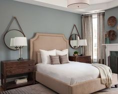The Best Blue/Gray Paint Colors master bedroom. BM Brewster Grey bedroom paint colors The Best Blue Gray Paint Colors Blue Bedroom Paint, Bedroom Colors, Bedroom Decor, Bedroom Ideas, Mirror Bedroom, Wood Bedroom, Kids Bedroom, Blue Master Bedroom, Silver Bedroom