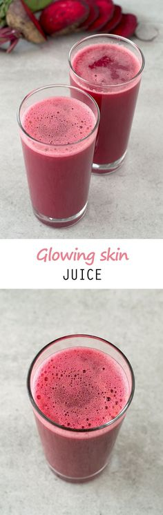 10 Amazing Juice Recipes For Healthy And Glowing Skin - Juicing and Smoothies Healthy Juice Recipes, Juicer Recipes, Healthy Juices, Healthy Smoothies, Healthy Drinks, Detox Recipes, Carrot Juice Recipes, Fresh Juice Recipes, Vegan Recipes