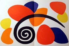 Artist: Alexander Calder  Title: Derrier le Miroir (Abstract II)  Year: 1968  Medium: Lithograph  Paper Size: 15 x 22 inches
