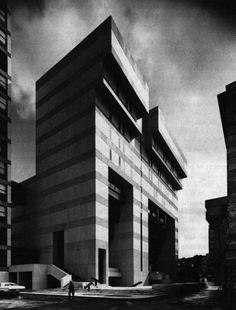 William Kessler and Associates, Educational Facilities Building, Harvard School of Public Health, Boston, Massachusetts, 1968-1971