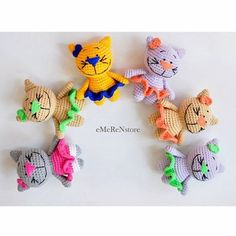 AMIGURUMI Cute Cat Kitty Kitten-Gift Toy Cat - Home Ornament-amigurumi kitty, baby toy, baby shower gift,birthday baby gift-Crochet Cat Toy by EMERENstore on Etsy Crochet Cat Toys, Crochet Animal Amigurumi, Bag Crochet, Knitted Cat, Love Crochet, Crochet Patterns Amigurumi, Crochet Gifts, Crochet Animals, Crochet Dolls