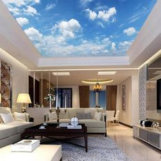 Sunny Clear Sky Ceiling Sticker Ceiling decor Sun Heavens Brightly Photo Paper Ceiling Mural Self Adhesive Exclusive Design Photo Wallpaper Sky Ceiling, Ceiling Murals, 3d Wall Murals, Ceiling Decor, Accent Ceiling, Ceiling Rose, Images Of Colours, Photo Wallpaper, Wallpaper Murals