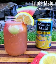 Triple Melon Lemonade - Housewives of Riverton Melon Smoothie, Smoothies, Melon Lemonade, Sandwich Bar, Fairs And Festivals, All Fruits, Yummy Drinks, Family Meals, Mexican Food Recipes