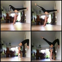 """07/09/2015 Playing with yoga  #lovely #handstand #variations #yogamakesmehappy #yogaeverydamnday #yoginiofig #yogalover #pointedtoes #proud #stronggirls…"""