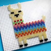 Flamingo & Lama - craft ideas for Foam Clay & Hama iron-on beads - HAMA iron beads * iron beads * llama * toy Kroell You are in the right place about clay crafts Here - Bead Embroidery Patterns, Pearler Bead Patterns, Perler Patterns, Beading Patterns, Art Patterns, Bracelet Patterns, Mosaic Patterns, Painting Patterns, Jewelry Patterns