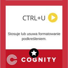 Skrót Excel: Ctrl+ U, więcej na www.cognity.pl