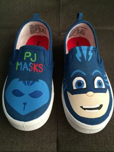 PJ Masks Shoes Cat Boy by iHeartCraftLife on Etsy