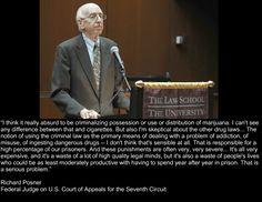 Richard Posner -FederAL Judge  #medicalmarijuana #cannabis #thc #vote #usa #marijuana #reform #judgeposner