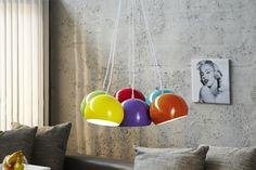 Visiaca lampa VIRGO 6 - viacfarebná
