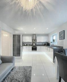 Luxury Kitchen Design, Kitchen Room Design, Home Room Design, Dream Home Design, Modern House Design, Home Interior Design, Dream House Interior, Luxury Homes Dream Houses, Dream Rooms