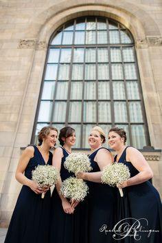Bridesmaids bouquets of babes breath by Rachel A. Clingen  photo credit Marcin Moka
