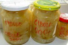 Jak udělat nakládanou sladkokyselou cibuli | recept | JakTak.cz Home Canning, Pickles, Kimchi, Onion, Mason Jars, Food And Drink, Homemade, Cooking, Syrup