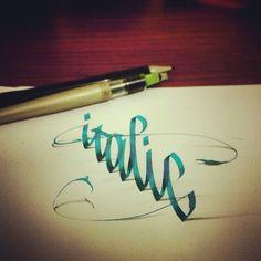 3D Lettering by Tolga Girgin. l #calligraphy #brushpen #parallelpen #pencil