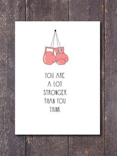 Wall Print You are a lot stronger than you think by GoodVitations