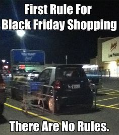 """First rule for Black Friday shopping, there are no rules."" // #Fashion"