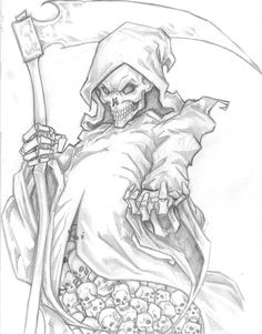 The only thing I would change is having his middle finger up.... Grim Reaper by ChrisOzFulton.deviantart.com on @DeviantArt