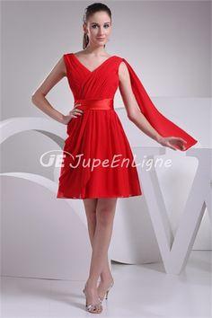11c8a7bfcf Cheap Amazing A-Line Princess V-neck Sleeveless Ruffles Short Mini Chiffon  Dress