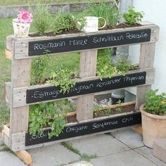 #palletwood #herbgarden #palletwoodidea #portable