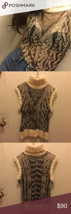 JEAN PAUL GAULTIER vintage top Vintage Jean Paul Gaultier FEMME top. Sheer with knitted turtleneck. Fits small/medium. Never worn, RARE, super chic Jean Paul Gaultier Tops