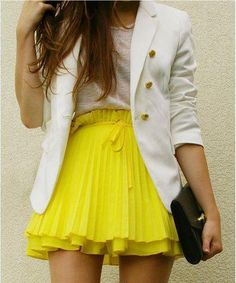 Yellow pleats please.