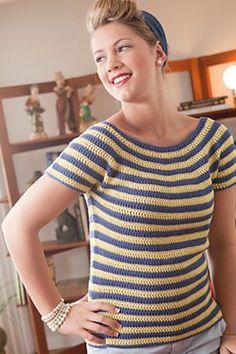 Ravelry: Gidget Tee pattern by Linda Permann