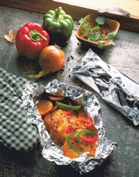 Easy Chicken & Vegies in Foil (7-9 pts/serving)