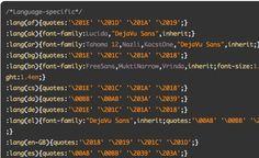 Internationalization Language CSS @ CSS-Tricks