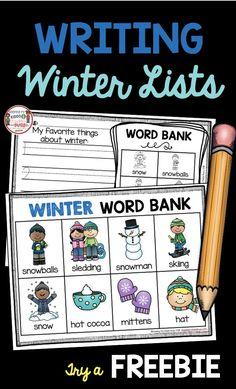 Writing Lists in Kindergarten - Unit 2 FREEBIE — Keeping My Kiddo Busy