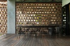 Brick focal wall || via ArchDaily || photo © Lin Ho