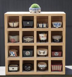 Beautiful collection of bonsai pots