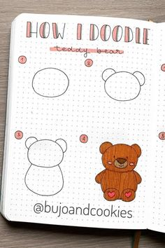 best animal bullet journal DOODLES with step by step tutorials Easy Doodles Drawings, Easy Doodle Art, Doodle Art Drawing, Cute Easy Drawings, Simple Doodles, Cute Doodles, Bullet Journal Banner, Bullet Journal Notebook, Bullet Journal Ideas Pages
