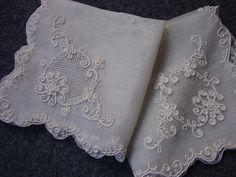 Pina Handkerchiefs from the Philippines Filipiniana Wedding, Filipino Fashion, Kurta Neck Design, Vintage Handkerchiefs, Silk Ribbon Embroidery, Lace Design, Fabric Patterns, Philippines, Embroidery Designs