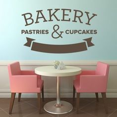 Bakery Pastries Cupcakes Wall Art Decal Sticker