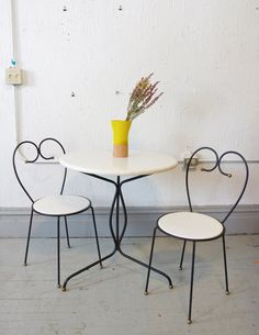 Mid Century French Country Chic Wrought Iron by departmentChicago, $195.00