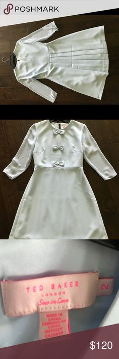 Ted Baker dress Ted Baker light blue dress. In perfect condition worn once for a wedding. Size 2 Ted Baker sizing. Ted Baker Dresses Midi