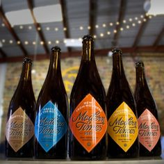 After much toiling & waiting, Modern Times'sour beers are finally ready to drink! Each of these beers spent 15 months aging in red wine barrels with a host of different cultures. All of the be...
