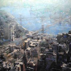 Mark Lague | Distant New York Bridges | 48 x 60 | Oil on Canvas